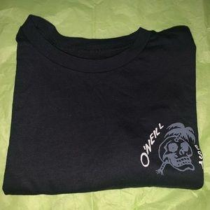 O'Neil men's skull + palm tree tee shirt